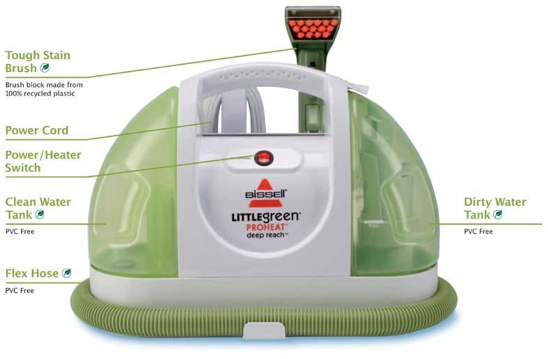 Bissell Little Green Proheat Deep Reach Spot Cleaner