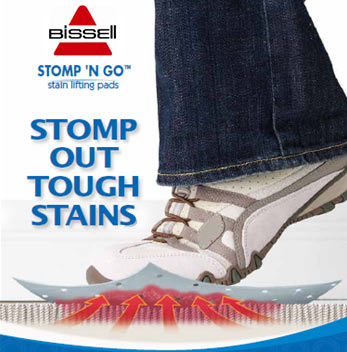 Amazon Com Bissell Stomp N Go Stain Lifting Pads 96q9w Carpet