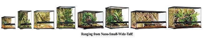 Exo Terra Glass Natural Terrarium Nano Tall 8 X 8 X 12