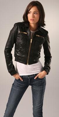 GoldSign Astor Leather Bomber Jacket