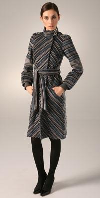 L.A.M.B. Luxe Stripe Coat