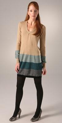 Twelfth St. by Cynthia Vincent U Neck Sweater Dress
