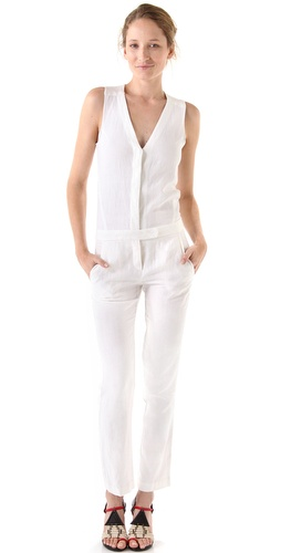 235579c74b0 A.L.C. Magnolia Jumpsuit One that is new for fall fashion is the Olcay  Gulsen Silk Georgette Jumpsuit  in white.