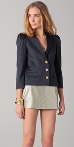 Get Kate's Blazer Look - Alice + Olivia Camio Puff Sleeve Blazer