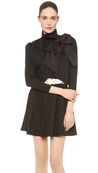 Alice Olivia Addison Bow Crop Jacket Shopbop
