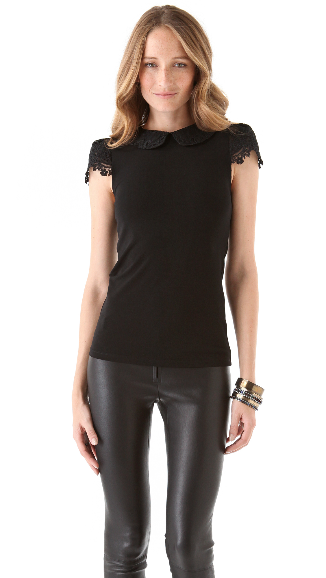 05eded6089a04 alice + olivia Luiza Collar Top on PopScreen