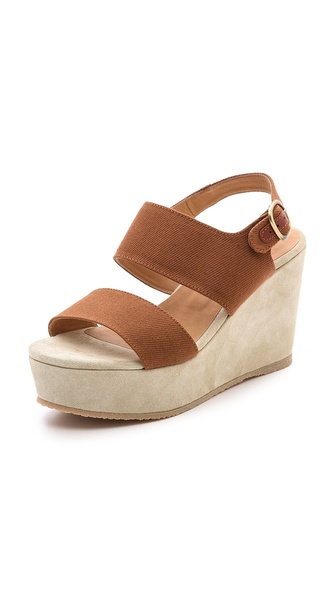 A P C Two Band Wedge Sandals Shopbop