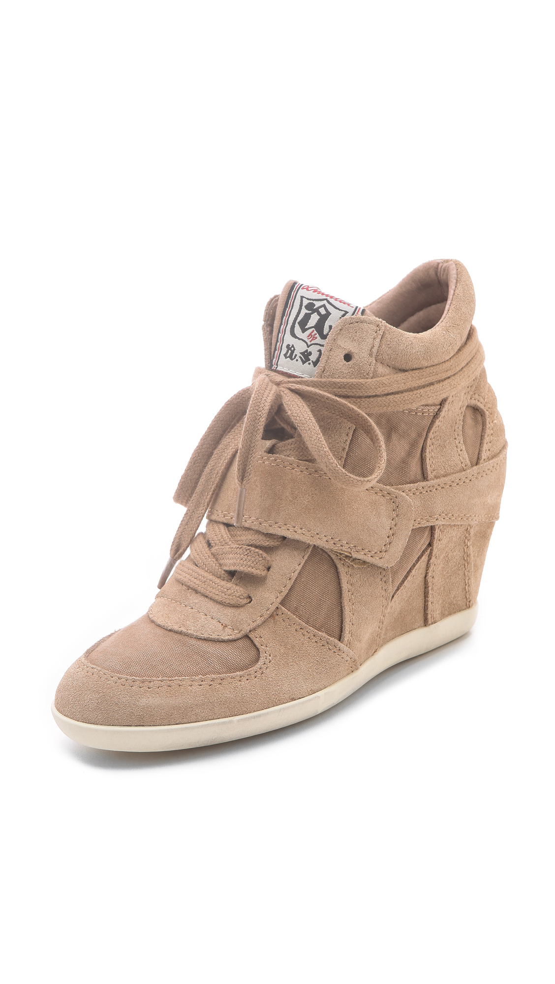 1ae048e9dbb5 Ash Bowie Suede Sneakers with Hidden Wedge on PopScreen