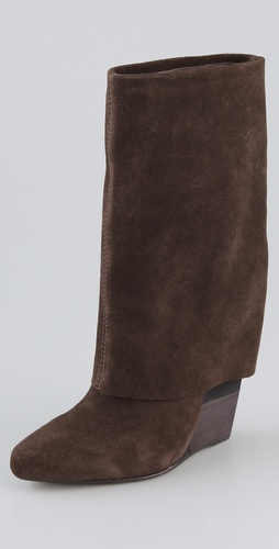 Blonde Ambition Adriana Suede Wedge Boots