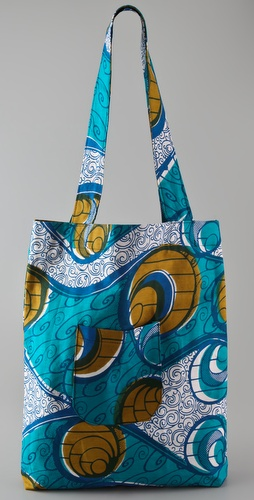 bluma project Teal Print Tote