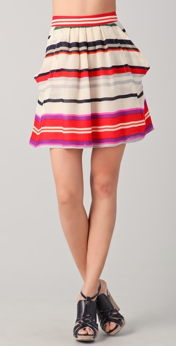 10 Crosby Derek Lam Striped Flounce Skirt