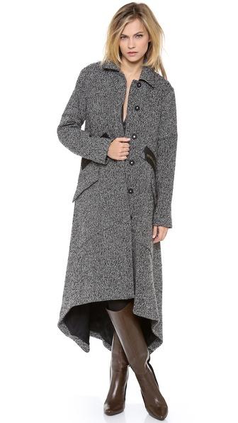 Derek Lam 10 Crosby Tweed Cape Coat Shopbop