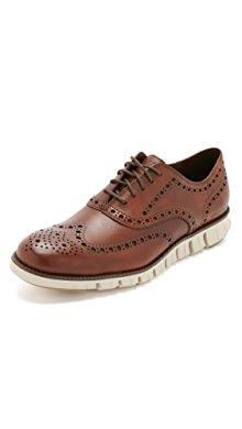 콜한 제로그랜드 윙팁 옥스포드 신발 Cole Haan Zerogrand Wingtip Oxford Shoes,British Tan