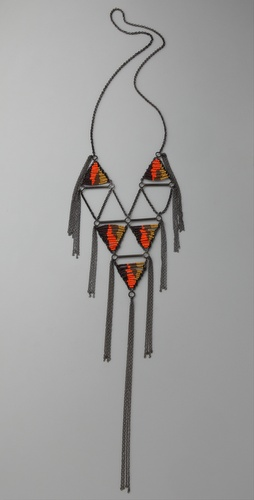 Chan Luu Geometric Chain Fringe Necklace