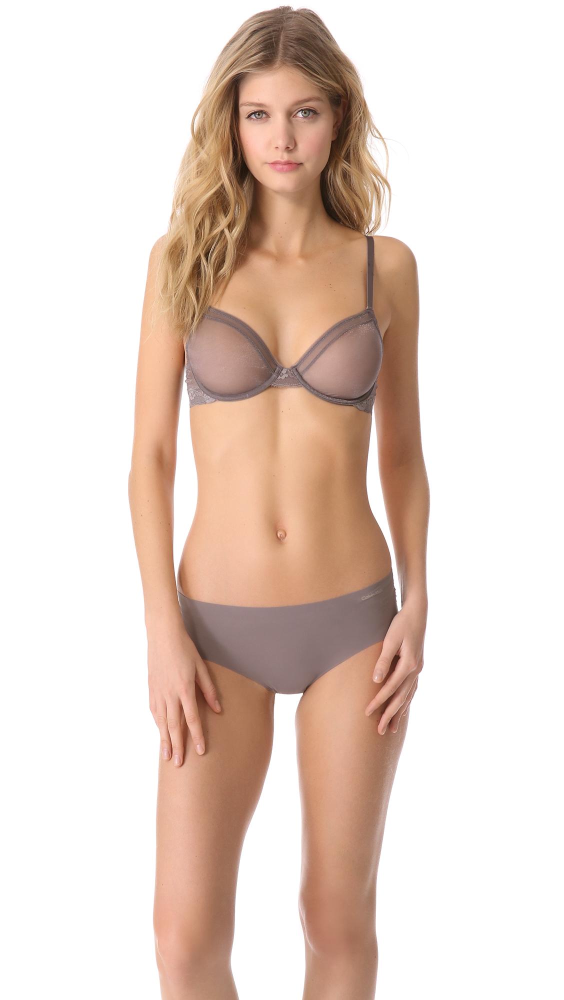 72f1ba0df4 Calvin Klein Underwear Luster Unlined Underwire Bra on PopScreen
