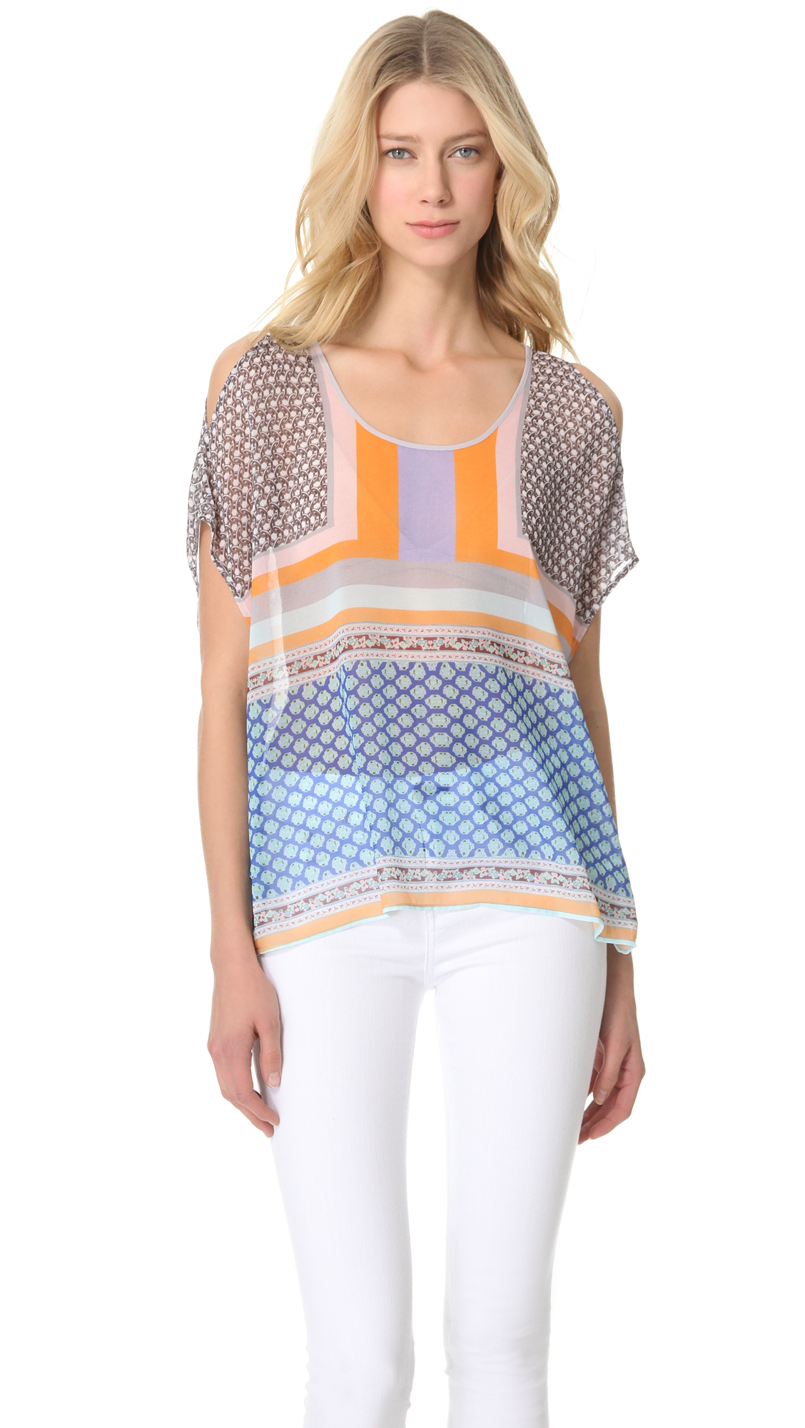 b9981af690778 Clover Canyon Chainmail Chiffon Top on PopScreen
