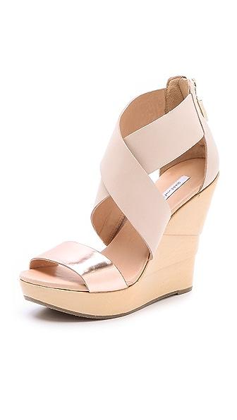 Diane Von Furstenberg Opal Lacquered Wedge Sandals Shopbop