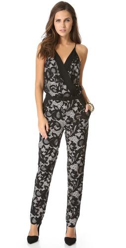 2ac0c1797c9 Diane von Furstenberg Shany Abstract Floral Lace Jumpsuit