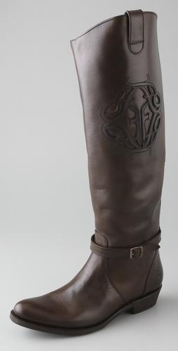 Frye Rider Logo Flat Boots