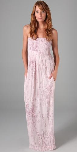 Monrow Lizzy Print Maxi Dress