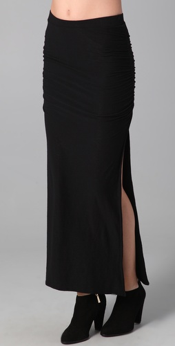 James Perse Long Side Split Skirt