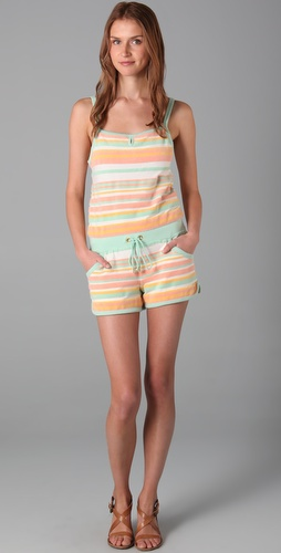 Juicy Couture Striped Keyhole Romper