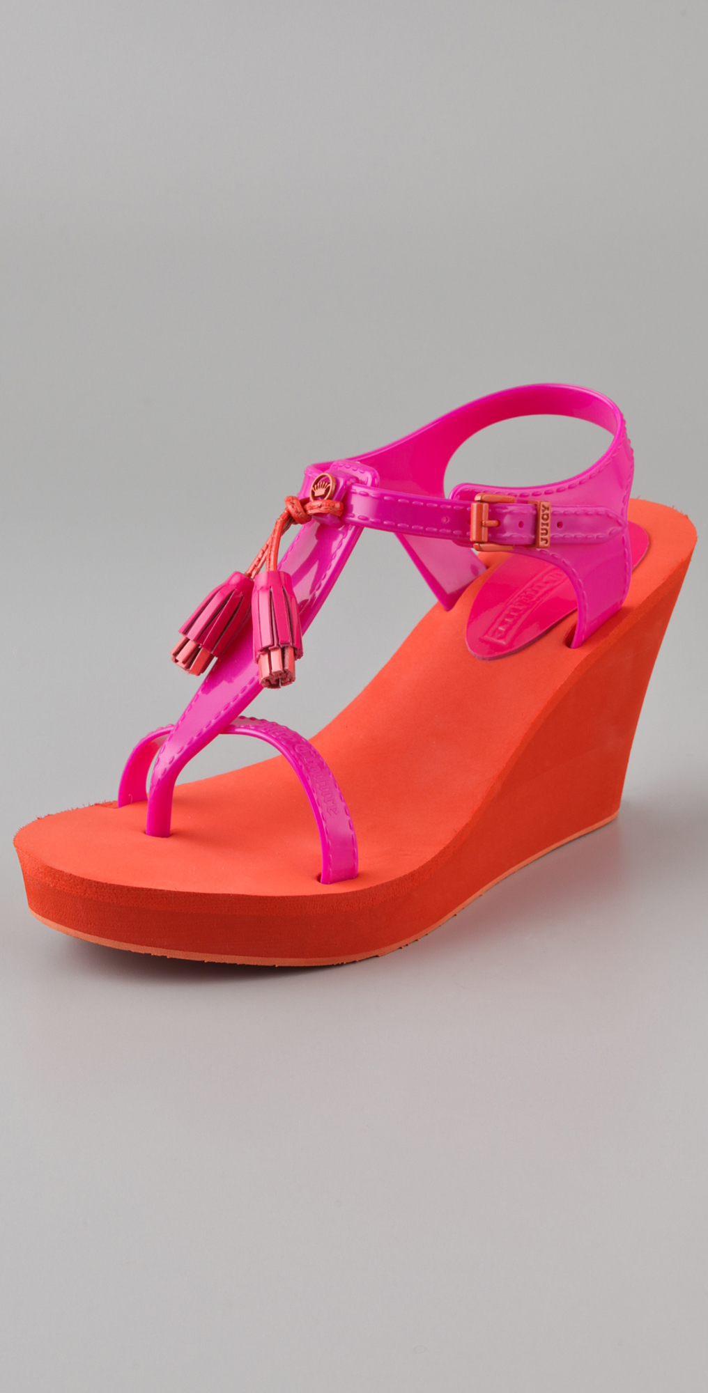 d03f828655d9 Juicy Couture Lily Wedge Sandals on PopScreen