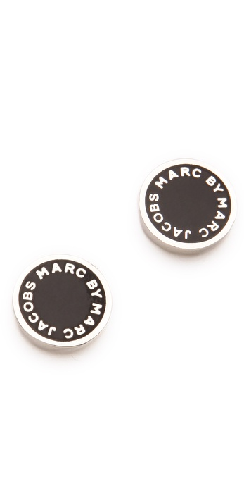 Marc By Marc Jacobs Logo Disc Stud Earrings Shopbop