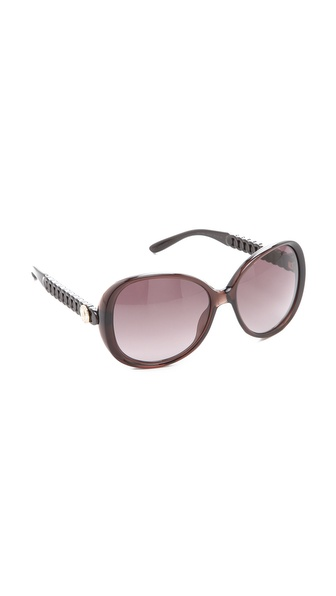 fc2b7d43f23 Marc By Marc Jacobs Glam Logo Button Sunglasses - Opal Brown Brown Gradient