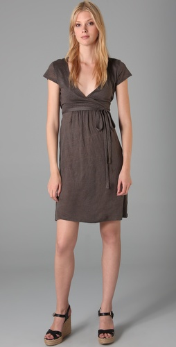 Majestic Crossover Wrap Dress