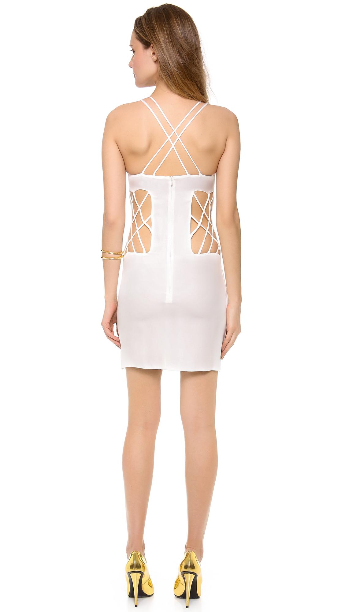 e5b73e852c7 Olcay Gulsen Sleeveless Open Side Mini Dress on PopScreen