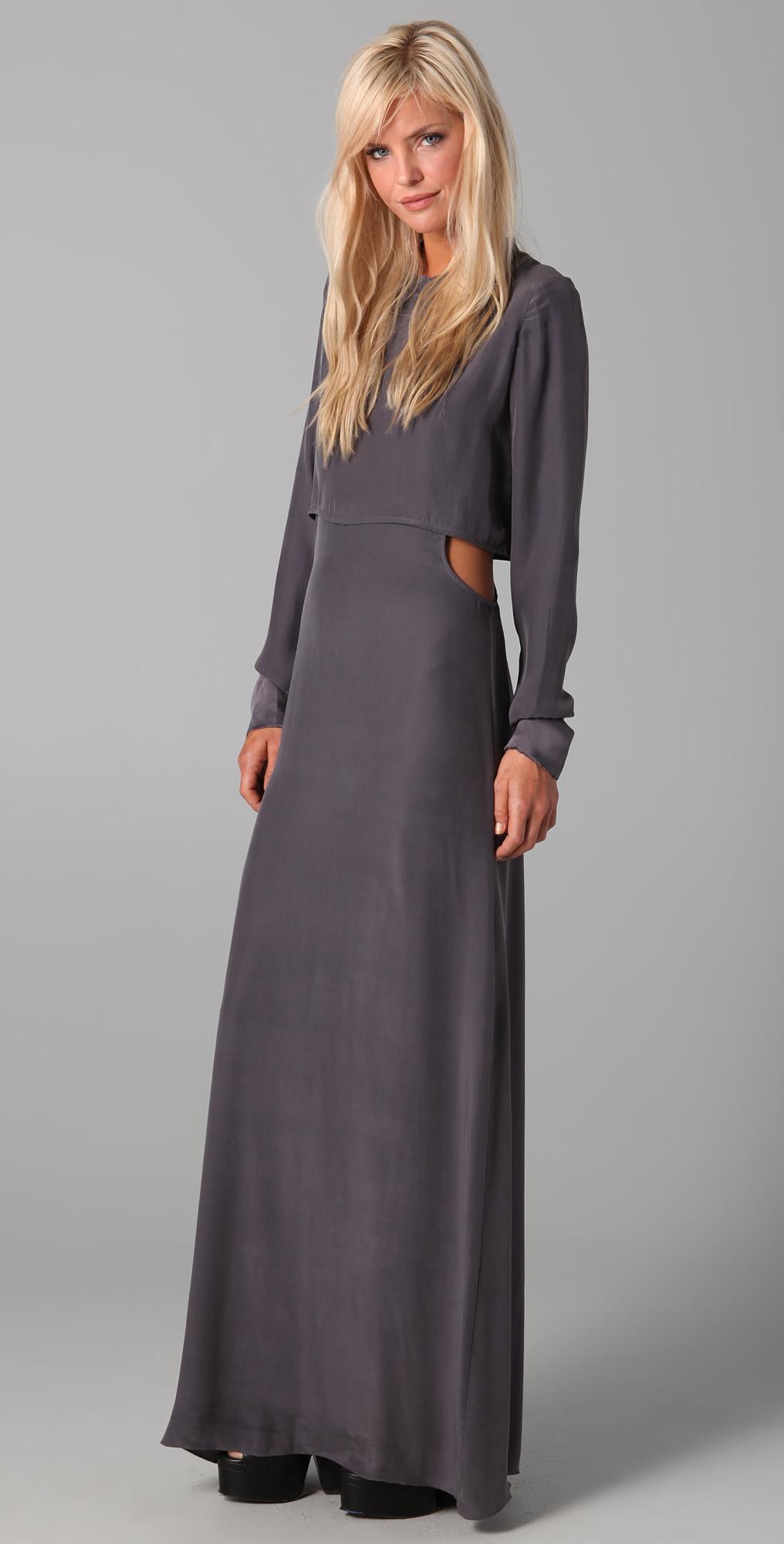 ffd11c154d59a Pencey Side Cut Maxi Dress on PopScreen
