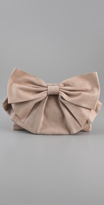RED Valentino Laminated Bow Clutch.