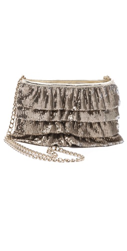 RED Valentino Sequin Ruffle Bag.