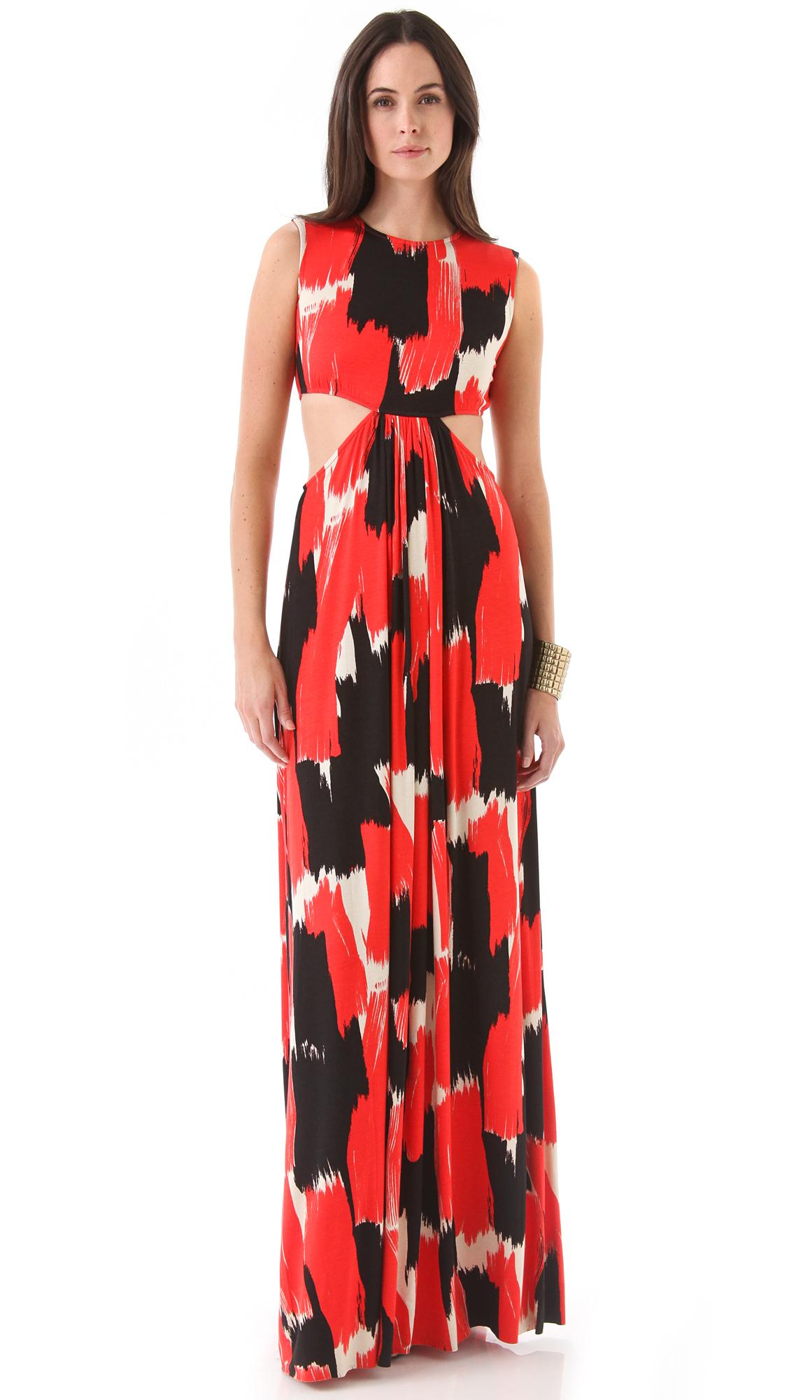 Rachel Pally Hope Print Cutout Maxi Dress on PopScreen 7400dba4c