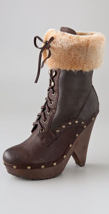 f7d00146b55d Sam Edelman Winsford Lace Up Clog Booties on PopScreen