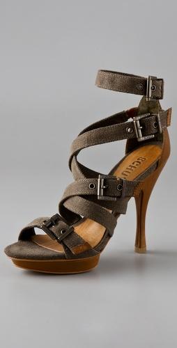 Schutz Lona Platform Sandals