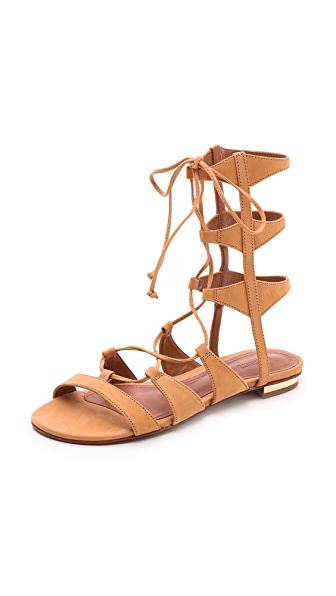 Schutz Erlina Flat Lace Up Sandals Shopbop