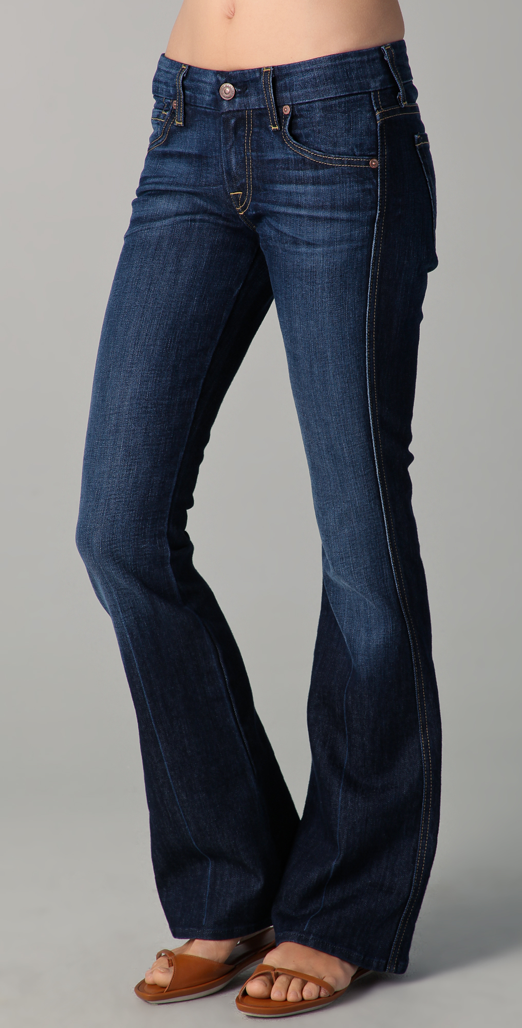 4b48ae0ae8617 7 For All Mankind Petite 'A' Pocket Flare Jeans on PopScreen