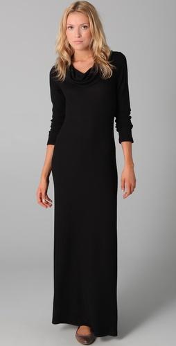 Splendid Cowl Thermal Maxi Dress