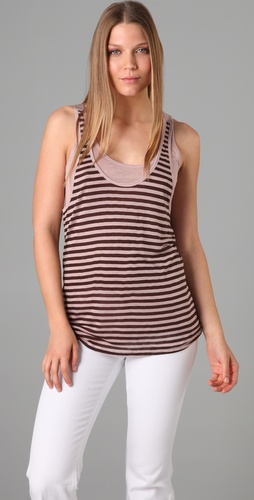 Three Dots Double Layer Tank Top