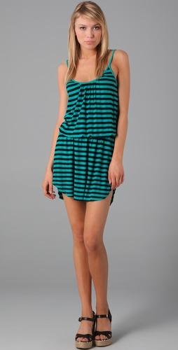 Three Dots Shirred Tank Dress