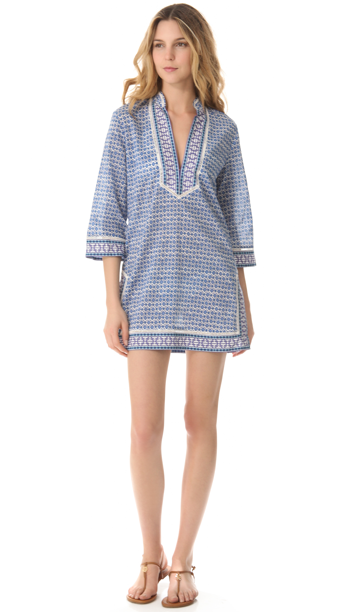 bced20eecb12 Tory Burch Moray Cover Up Tunic on PopScreen