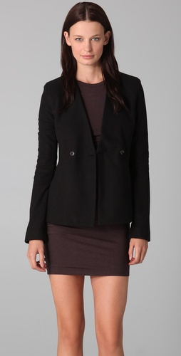 T by Alexander Wang Brushed Fleece Blazer