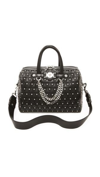 Versace Стеганая сумка с заклепками Medusa на цепочке.