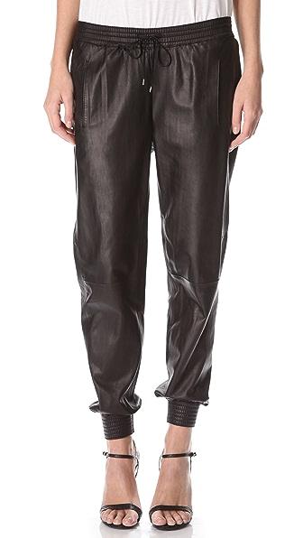 Vince Leather Jogging Pants   SHOPBOP