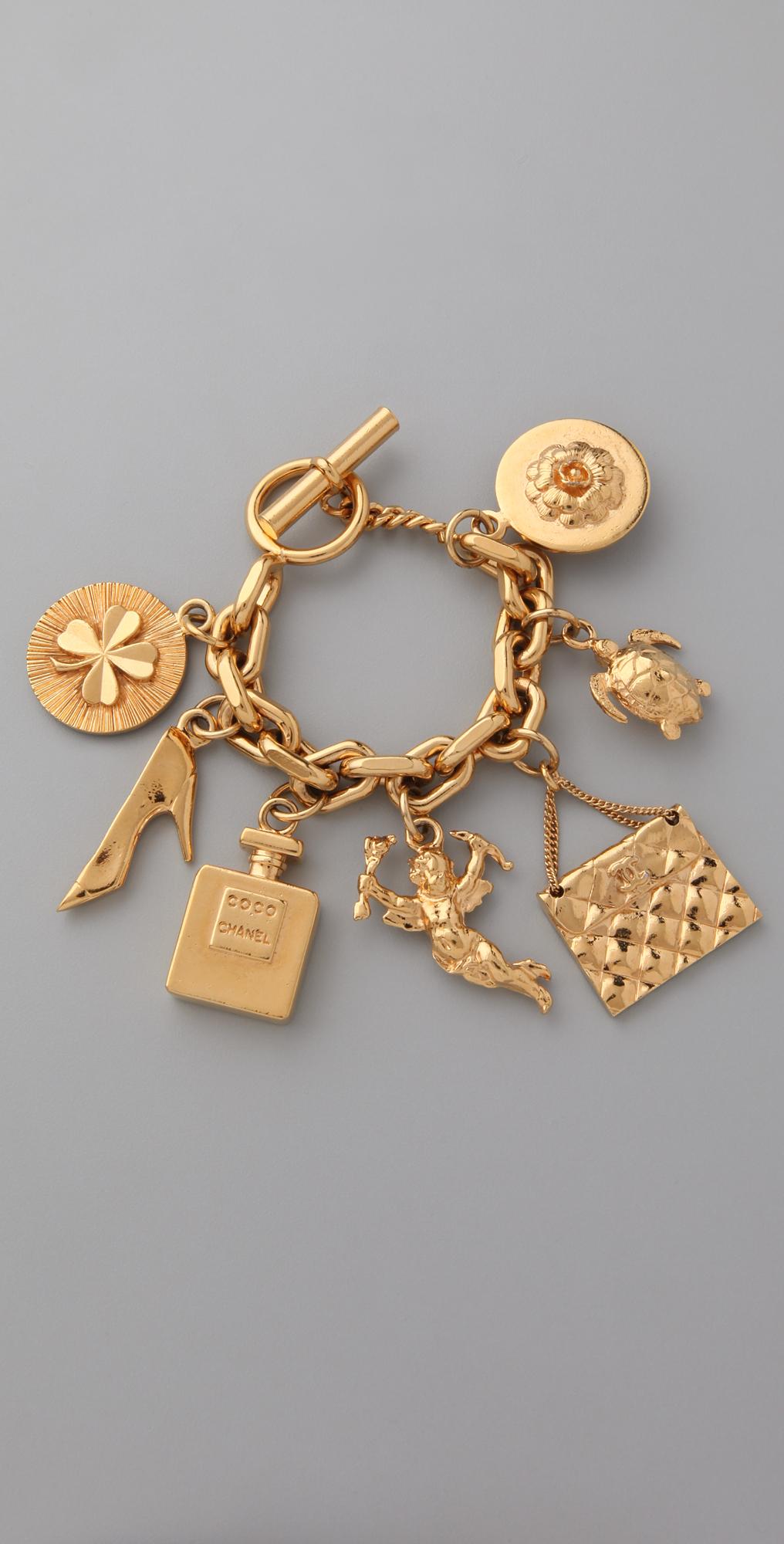 c1bfb12c70d7 WGACA Vintage Vintage Chanel '80s Charm Bracelet on PopScreen