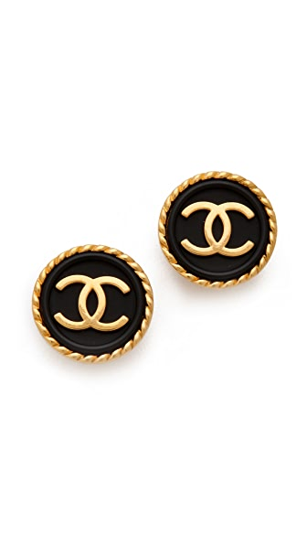 wgaca vintage vintage chanel cc earrings shopbop. Black Bedroom Furniture Sets. Home Design Ideas
