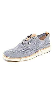 콜한 제로그랜드 니트 옥스포드 신발 Cole Haan Zerogrand Feather Knit Oxfords,Ironstone/Ivory