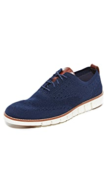 콜한 제로그랜드 니트 옥스포드 신발 Cole Haan Zerogrand Feather Knit Oxfords,Marine/Ivory
